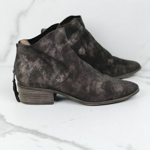Lucky Brand Brown Metallic Leather Boots Booties